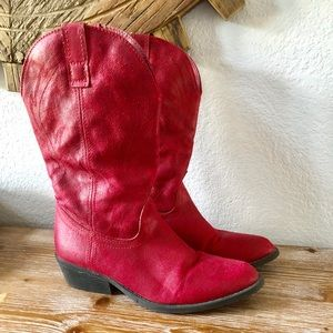 RAMPAGE Red Cowboy boots Size 8.5